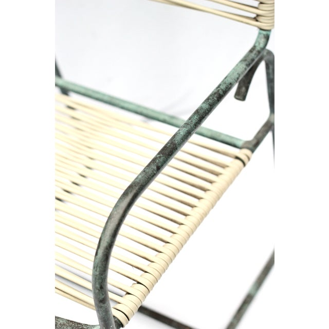 1950s Patinated Bronze Walter Lamp Patio Chairs - Image 2 of 6