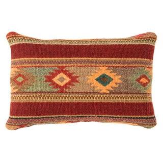 Red Wool Oaxacan Zapotec Pillow