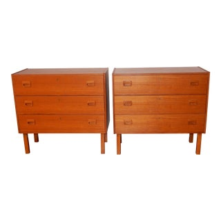 1950s Vintage Danish Modern Side Tables - a Pair
