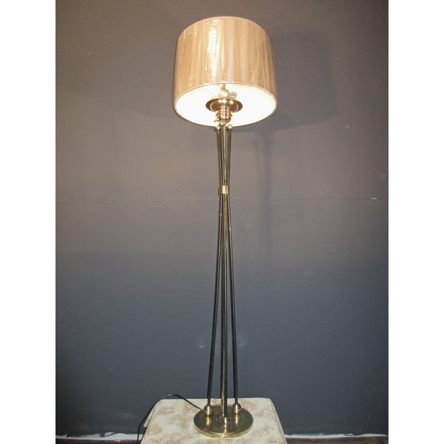 Mid-Century Atomic Era Brass Floor Lamp