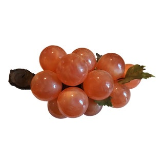 Mid-Century Orange Pearlescent Lucite Bunch of Grapes