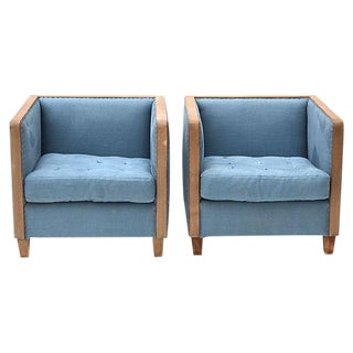 Restoration Hardware Deconstructed Club Chairs - A Pair