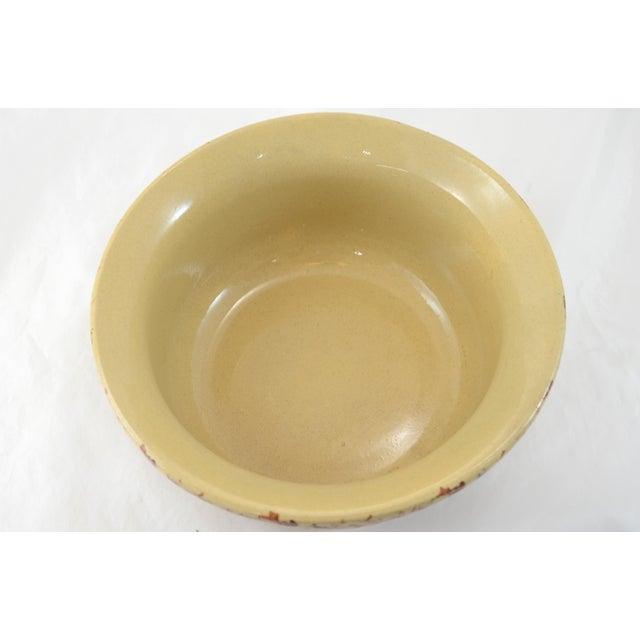 Image of Roseville Medium Farmhouse Brown Spongeware Bowl