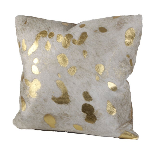 Gilded Hide Pillow - Image 1 of 3