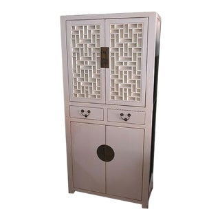 Asian Style Off White Cabinet
