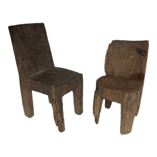 Solid Wood Low Chairs