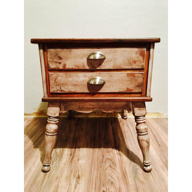 Farmhouse Rustic Side Table - Image 2 of 11