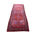 "Image of Red & Purple Vintage Persian Runner - 3'9"" X 9'10"""
