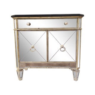 Hollywood Regency Mirrored Cabinet