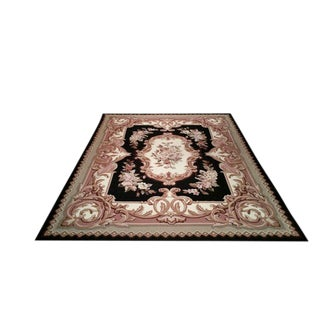 French Handmade Needlepoint Rug - 8′ × 10′