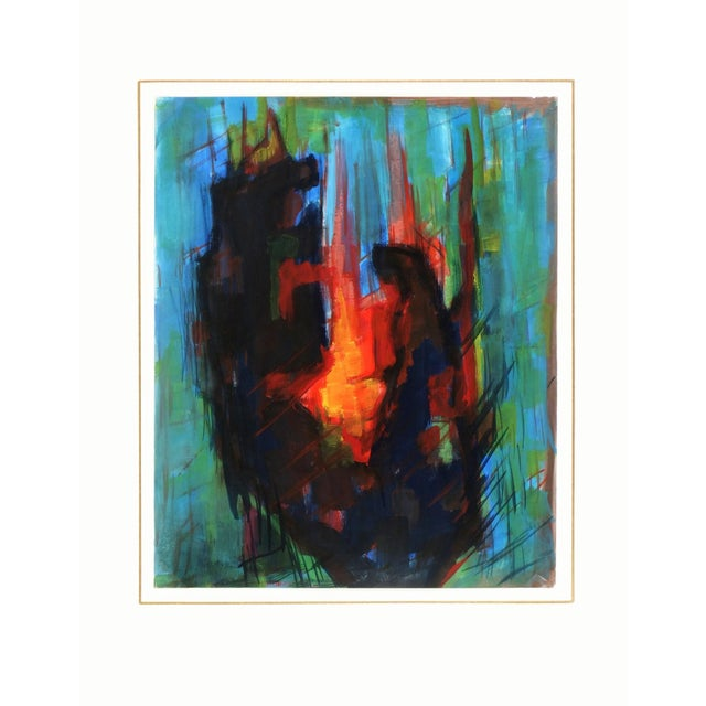 Image of Original French Abstract Modern Art Painting
