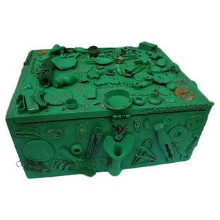 Green Cigar Memory Box With Trinkets