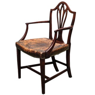 Antique George III Shield Back Arm Chair