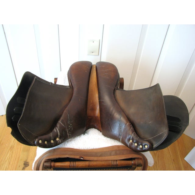 "Crosby Millers 16.5"" Brown Leather Horse Saddle - Image 6 of 8"