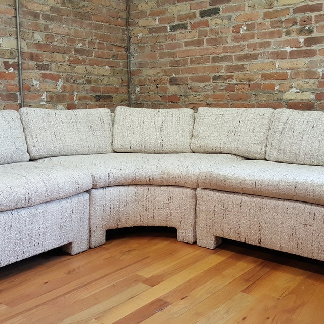 1970s Large Milo Baughman Style Sectional - Image 3 of 7