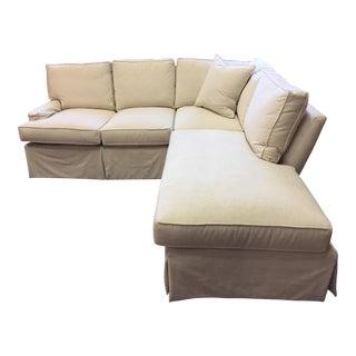 Custom White Kypton Sectional Sofa