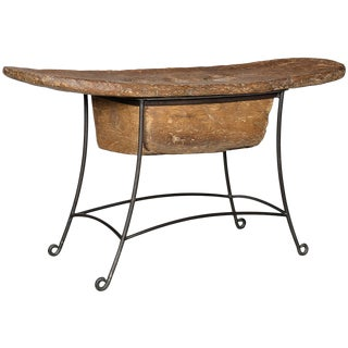 Rustic Naga Grinder Console Table