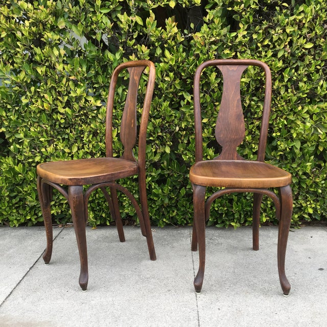 J & J Kohn Austrian Bistro Chairs - A Pair - Image 6 of 7
