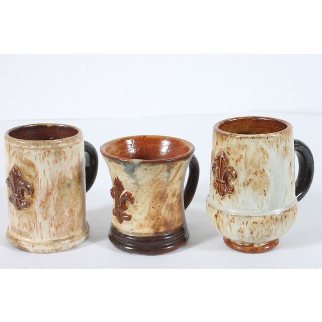 Image of Belgium Mugs By Guerin Pottery - Set of 3