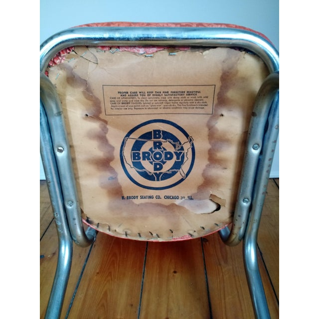 Retro 1950s Vinyl & Chrome Dining Chairs - Set of 4 - Image 10 of 10