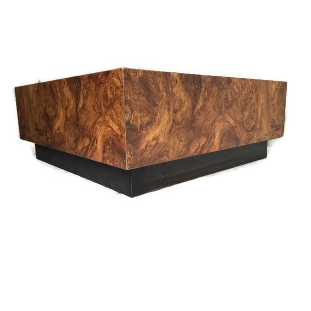 Vintage Burl Wood Floating Coffee Table Chairish
