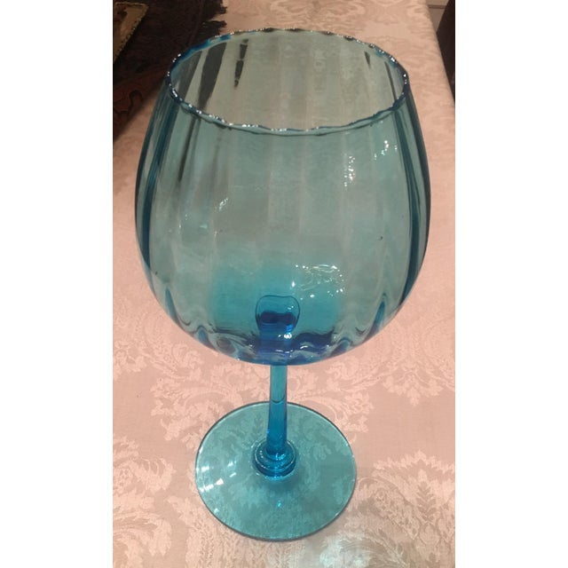 Turquoise Glass Candle Holder - Image 2 of 7