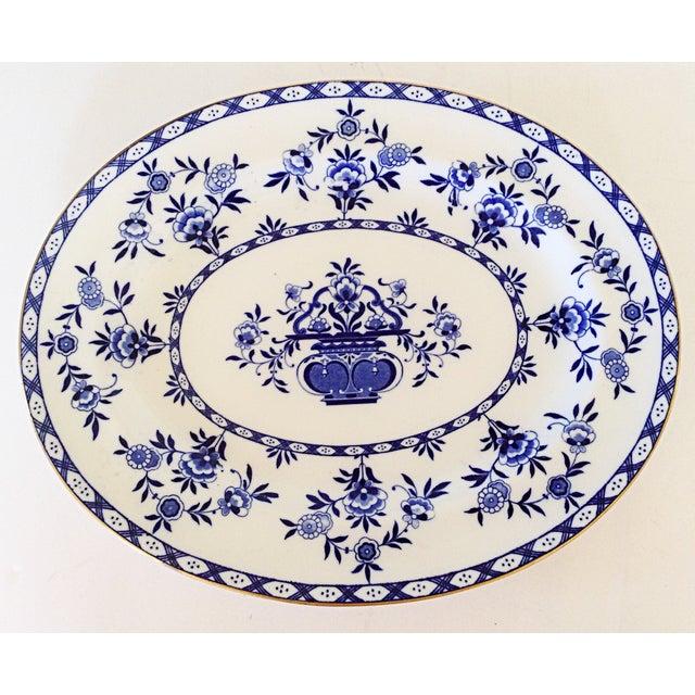 Royal Doulton English Blue & White Platter - Image 2 of 3