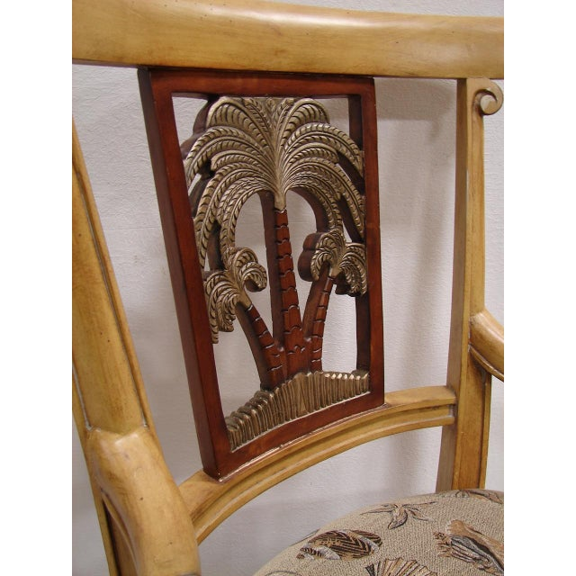 Clayton Marcus Palm Tree Shell Accent Chair Chairish