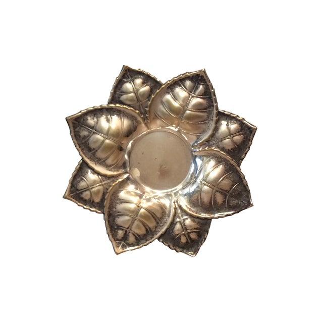 Metal Floral Candle Holder - Image 1 of 6