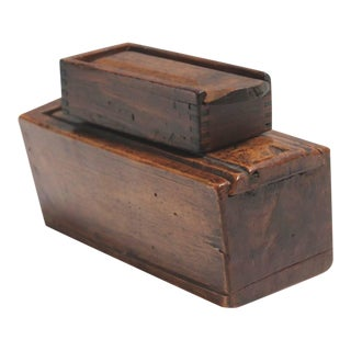 Two 19th Century Slide Top Boxes
