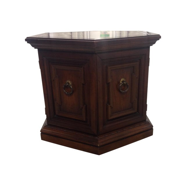 Mid-Century Wooden Hexagonal Side Table - Image 1 of 7