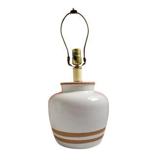 White Ceramic & Terracotta Table Lamp