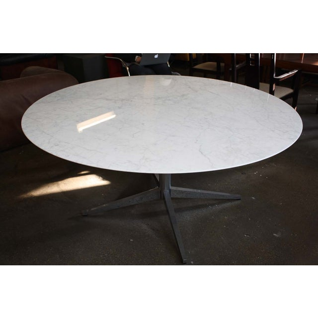 Image of Florence Knoll Carrara Marble Dining Table