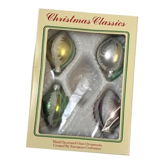 Vintage Christmas Ornaments- Set Of 4