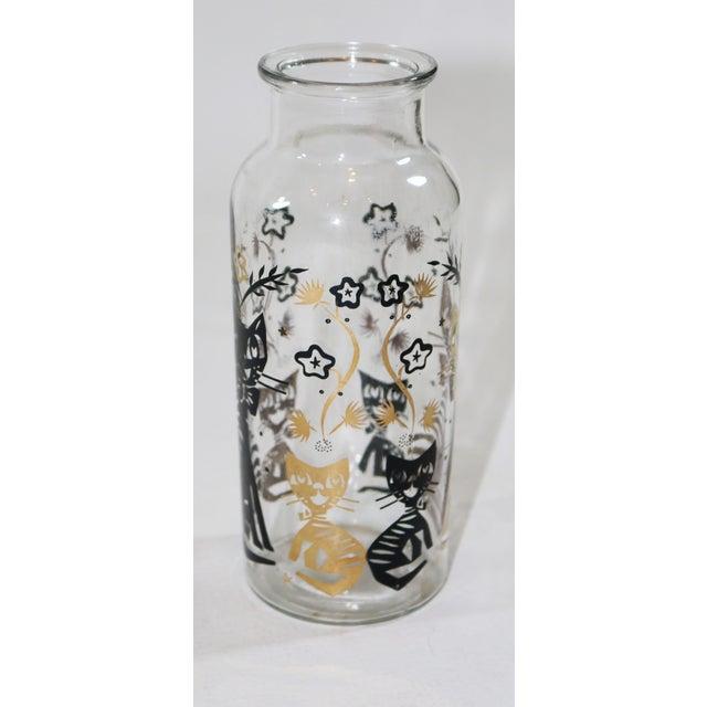 Black & Gold Cat Vase Bottle - Image 2 of 5