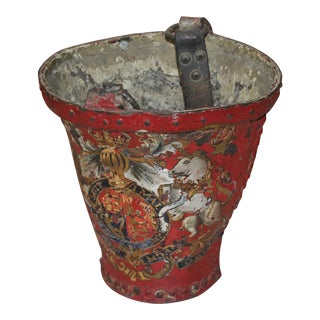 Circa 1890 Antique European Fresh Water Fire Bucket