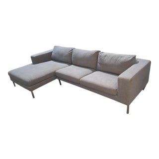 DWR Gray Sectional Couch with Chaise