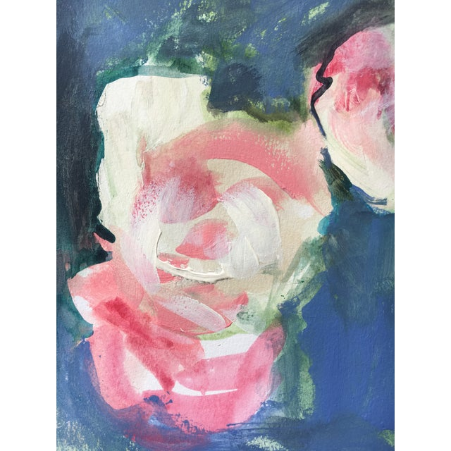 Watercolor Soft Roses Painting - Image 3 of 5