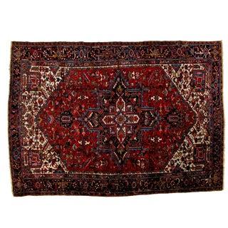 Antique Persian Heriz Carpet- 9′7″ × 13′3″