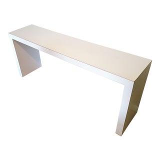 Parsons Style White Laminate Sofa/Foyer Table