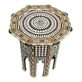 Moroccan Octagonal Inlay Side Table