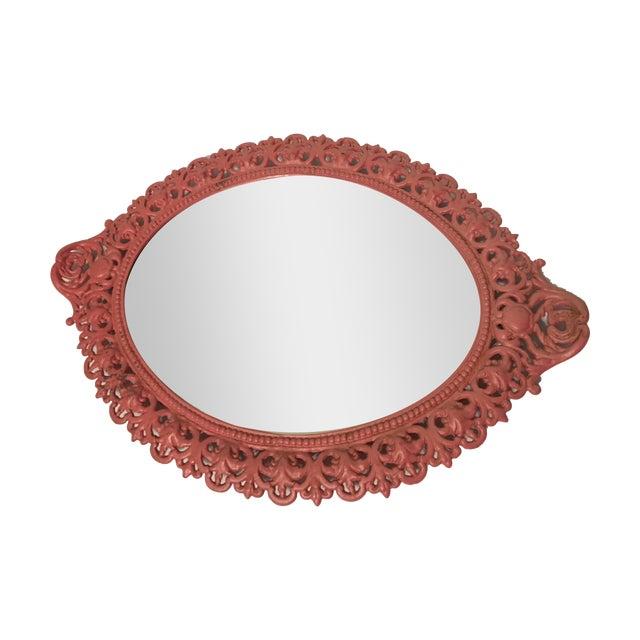 Emig Cast Iron Oval Mirror - Image 1 of 7