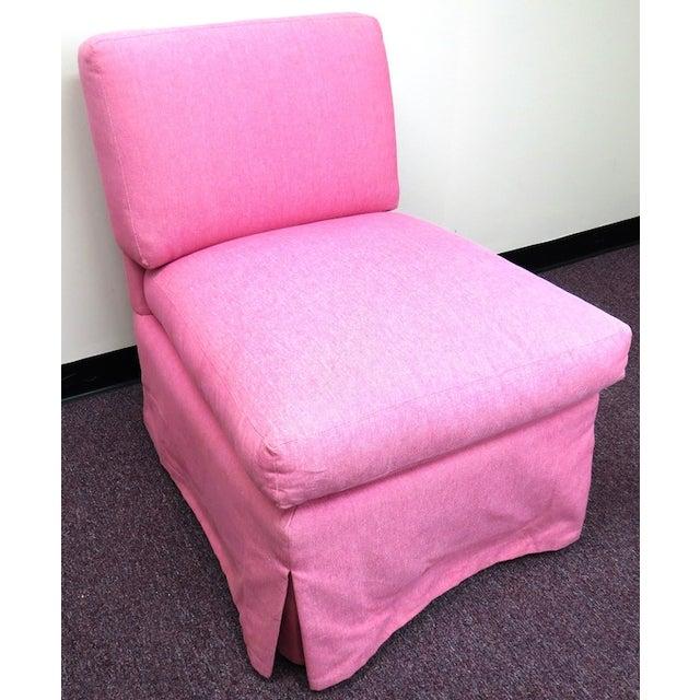 Edward Ferrill LTD Pink Armless Chair - Image 2 of 5
