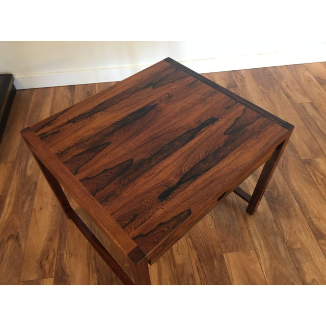 Brode Blindheim Rosewood End Table - Image 4 of 9