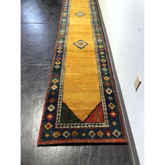 Southwestern-Style Wool Runner Rug - 2′6″ × 14′