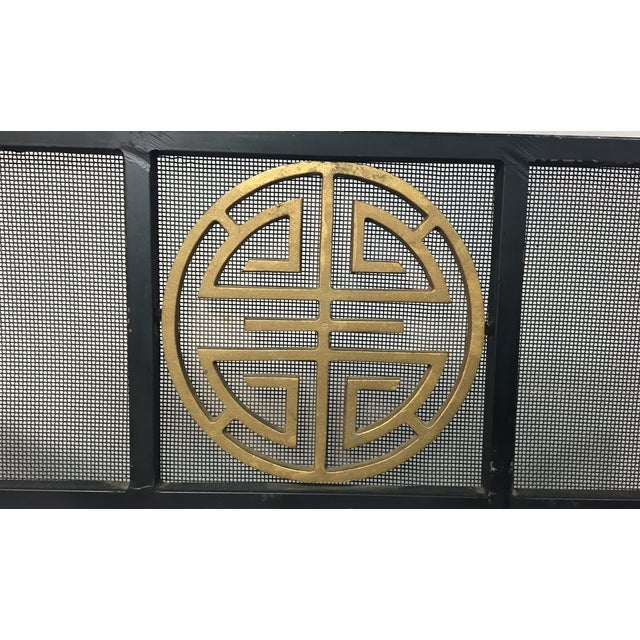Asian-Style Metal Fire Screen - Image 3 of 4