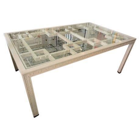 century hollywood regency fretwork dining table chairish. Black Bedroom Furniture Sets. Home Design Ideas
