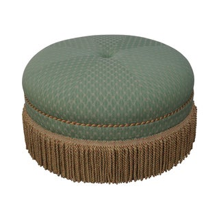Custom Quality Round Upholstered Ottoman