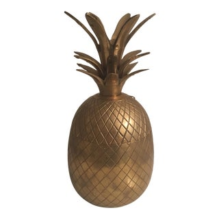 Vintage Brass Pineapple Box