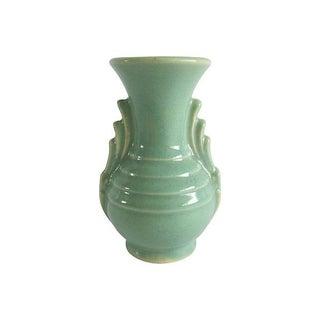 Mint Art Deco-Style Vase